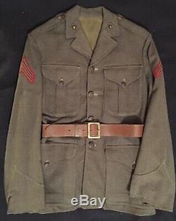 WW1 USMC P1920(M) Enlisted Winter Service Coat RARE MODIFIED STANDING COLLAR