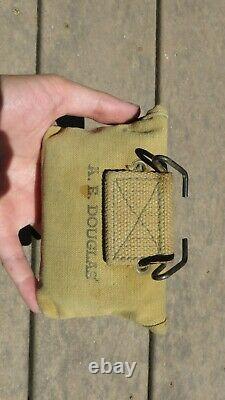 WW1 USMC US MARINE CORPS M1912 First Aid FA Pouch Field Web Gear