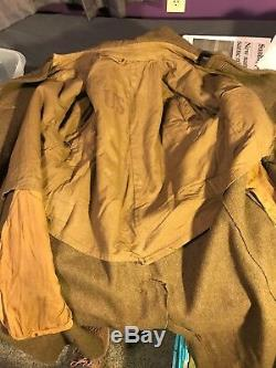 WW1 US 41st Infantry Division Overcoat Named B148