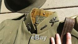 WW1 US ARMY AEF 312th Field Artillery Officer Uniform Group Lot Paper + Photos +