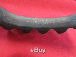 WW1 US Army 1917 A. C. Co Triangular Blade Trench Knife Original Scabbard USGI