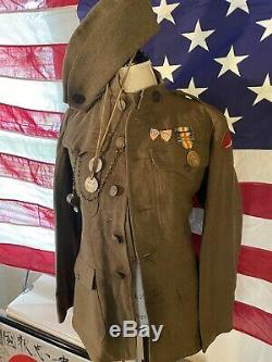WW1 US Army Uniform 78th Infantry Field Artillery See pictures