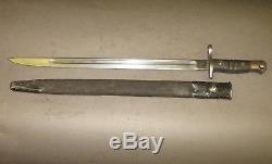 WW1 US Enfield Model 1917 Bayonet P13 P14 P17 & Scabbard Remington April 1917