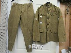 WW1 US Uniform Tunic Trousers 37th Division Corporal Dog Tags Collar Discs Namd