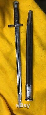 WW1 U. S. 1917 Bayonet 17 Blade with scabbard