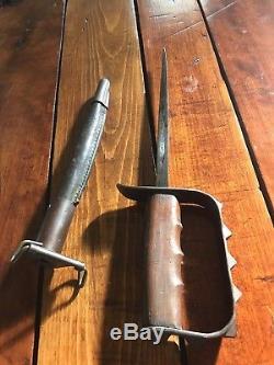 WW1 U. S. Trench Knife With Sheath