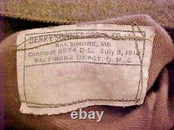 WW1 U. S. Tunic / Patches Breeches 2 Caps Shirt Belt Pair Puttee Uniform Grouping+