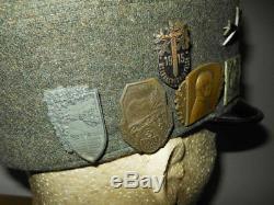 WW1 / WW2 Austro Hungarian Mountain M1909 Alpine Cap Gebirgsjager VERY NICE