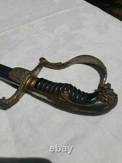 WW1 WW2 GERMAN OFFICER'S SWORD withscabbard MARKED Very Nice