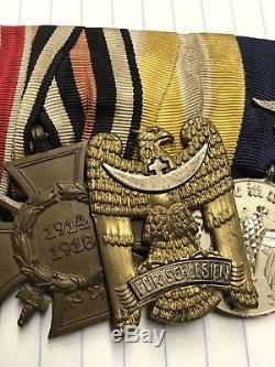 WW1 WW2 German Iron Cross Bravery Schlesien Badge Medal Silesian Luftwaffe 4 Yrs