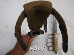 WW1 & WW2 Trench Knives / U. S. 1918 Au Lion & U. S. M3 UTICA / 100% Original