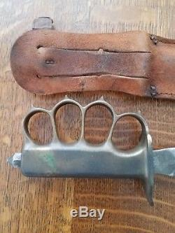 WW1 WWI Trench Knife L. F. & C. U. S. 1918 Fixed Blade Fighting Army Knife Dagger