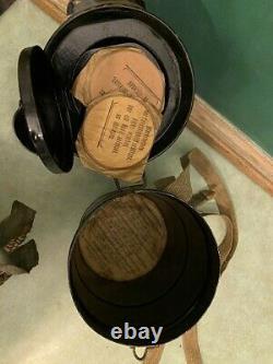 WW1 WWI World War I German M1917 Leather Gas Mask With Filter Lederschutzmaske