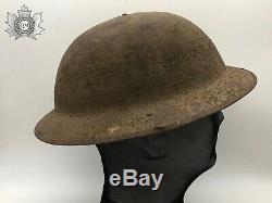 WW1 World War One British Canadian Mark I Brodie Combat Helmet