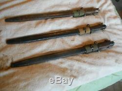 WW1 british enfield rifle No. 1 Mk. 3 SMLE pattern 1907 bayonet w scabbard & frog