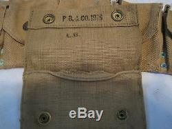 WWI 1903 Enlisted Mans Mounted Web Belt Springfield 1903 Rifle