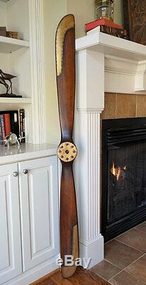 WWI 1917 Replica 70 Wood Wooden Airplane Aircraft Antique Propeller Brass Edges