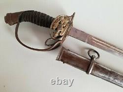 WWI ACS-Solingen M1889 German Prussian Infantry Officers Degen Sword withScabbard