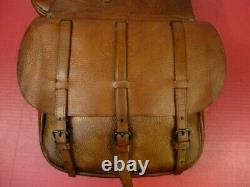 WWI AEF US Army Cavalry M1904 McClellan Saddle Leather Saddle Bags Dtd 1917