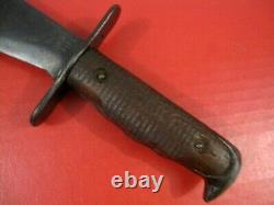 WWI AEF US Army M1917CT Bolo Knife withCanvas Scabbard AC Co. Chicago 1918 NICE