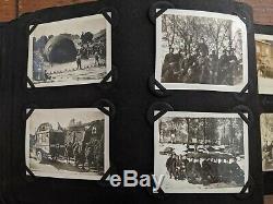 WWI American Soldier Snapshot Photo Album Black Soldiers, Verdun, Biplanes++