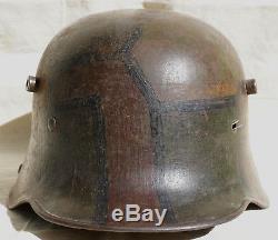WWI CAMO GERMAN Army HELMET with Liner WW1