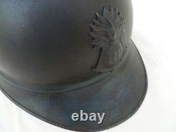 WWI CASQUE ADRIAN 1915 Bleu Horizon Troupes Coloniales ORIGINAL HELMET POILU
