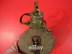 WWI Era Imperial German Army Water Bottle Canteen withCup Dated 1917 Original