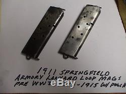 WWI Era SPRINGFIELD 2 Magazines with Lanyard Ring FOLDED BASE (Rare)