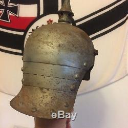 WWI GERMAN/PRUSSIAN PICKELHAUBE CUIRASSIER metal M15 HELMET lobster tail