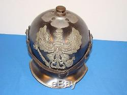 Wwi German Spiked Helmet Pickelhaube Jaeger Zu Pferd