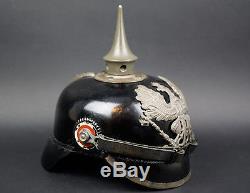 Wwi German Spike Helmet -prussian M1915 Em Pickelhaube