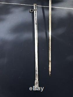 WWI German Prussian M1889 Sword With Folding Guard And Scabbard