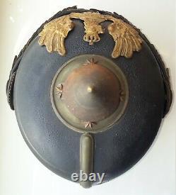 WWI German Prussian Officer Spike Helmet Pickelhaube Casque