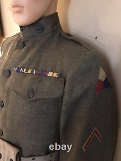 WWI M1917 Spec 1285 Service Uniform 5th Tank Company, US Tank Corps SR TK ENGR