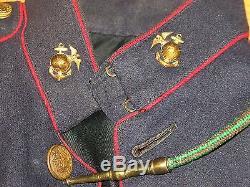 Wwi Marine Usmc Uniform Jacket Pants Belt Id D Ega Insignia