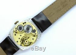 WWI Military Design Solid Silver Two Tone Trench Gents Watch 191020