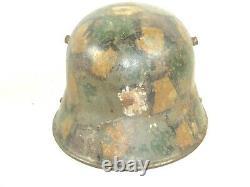 WWI Original German M16 M1916 Gebruder Bing WW1 Military Army Helmet Camouflage