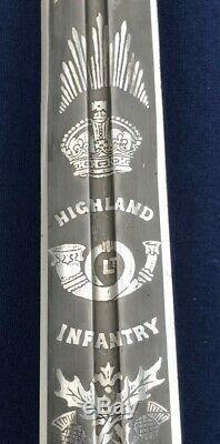 WWI Scottish Highland Infantry Regimental basket hilted officer sword broadsword