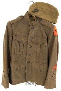 WWI USMC 5th Marine Brigade Uniform Cap EGA Named