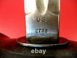 WWI US ARMY M1913 Cavalry Saber Patton Sword with Tent Peg Scabbard SA 1913 RARE