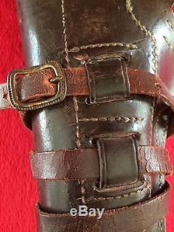 WWI US Army AEF M1912 Leather Swivel Holster Colt M1911.45acp Pistol Cavalry