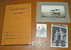 WWI WW1 BOB FORD Collection-Naval Aviator Tunic, Hat, Flight Log-Balloon Pilot