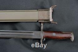 WWI/WWII Springfield Armory 1918 Marked M1905 1903/M1 Garand Bayonet & Scabbard