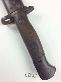 WWI-WWII Wilkinson British Pattern 1907 Bayonet with Leather Scabbard