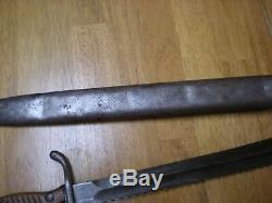 WWI Waffenfabrik Mauser A. G. Oberndorf a. N. German Sawback Butcher Blade Bayonet