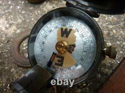 WWI XI Hussars British Army Officer's Pistol Holster, Compass, Binoculars, Belt
