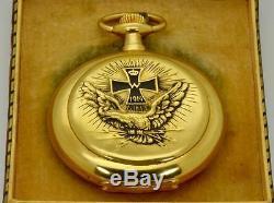 WWI pilot's 14k gold Deutsche Präzisions-Uhrenfabrik Original Glashütte watch
