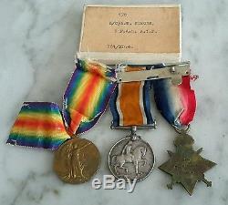 WW 1 Australian Medals X3 + Gallipoli Medal L/Cpl W Simons 3 F. Amb A. I. F & memb