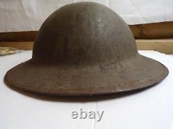 WW-1 BRITISH BRODIE HELMET WITH PERIOD APPLIED 27th INFANTRY DIVISION INSIGNIA
